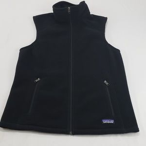 Patagonia Synchilla Black Fleece Sweater Vest